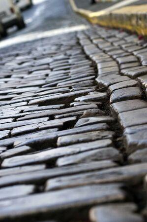 cobblestone: Cobblestone Street Stock Photo