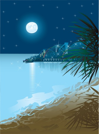 este: Night beach