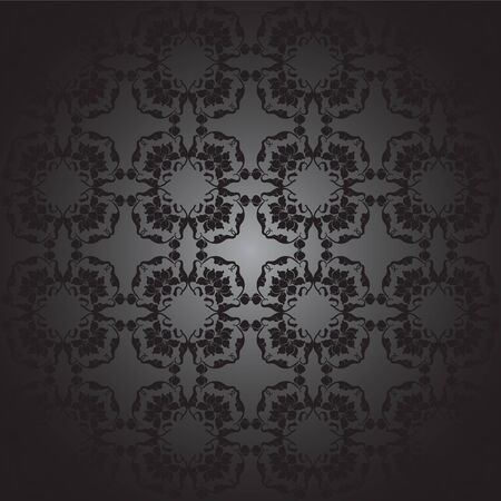 floral design east, black and white Vector