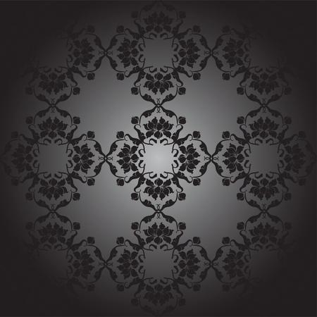 lotus pattern black, black gradient Vector