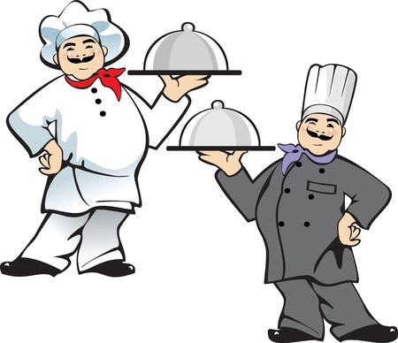 pizza, restaurant cook in uniform Vector