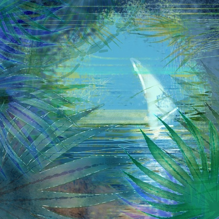 background tropical sea