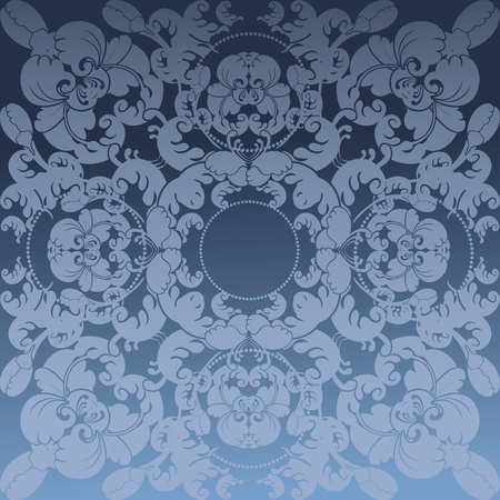 floral design blue Illustration