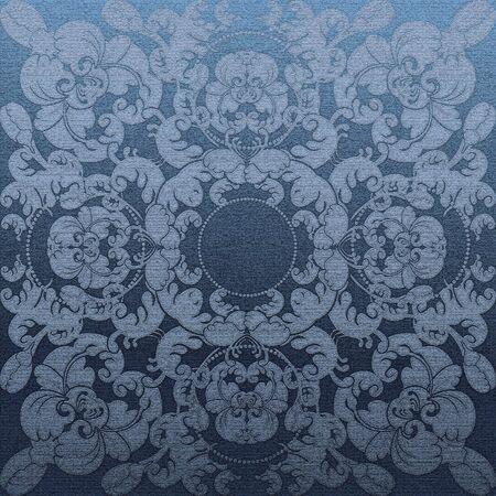 floral design blue relief photo