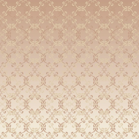 rich wallpaper: floral design beige