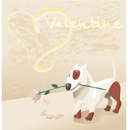 valentine dog photo