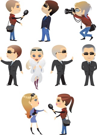 profession people character man  woman Vector