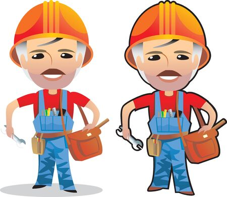 working man cartoon isolated Vector