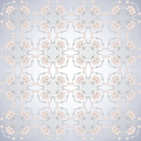 grey pattern pink lotus seamless Vector