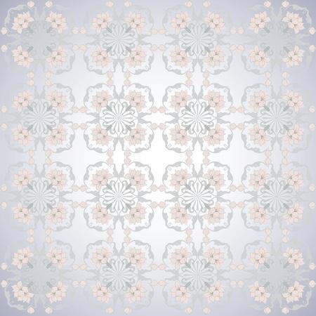 grey pattern pink lotus seamless