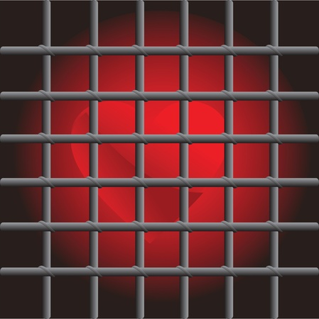 red heart in captivity prison