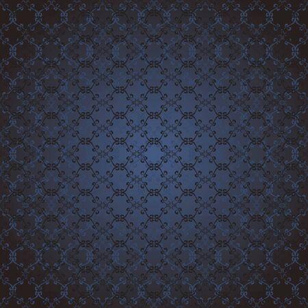 dark blue floral seamless background