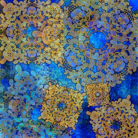 iris flower: exotic dark blue floral background Stock Photo