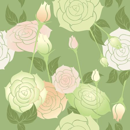 Rosen seamless pattern Pastellfarben Vektorgrafik