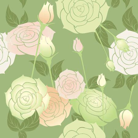 rosas de color pastel, sin patrón
