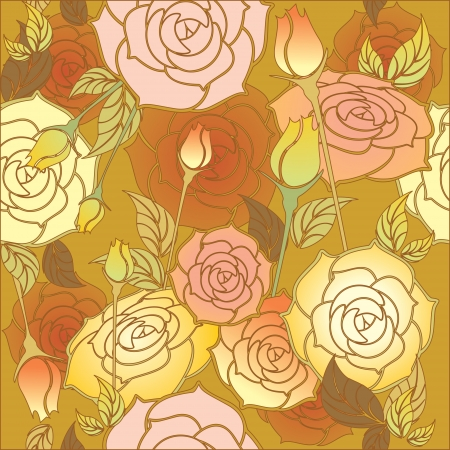 floral design , roses pattern seamless  Vector