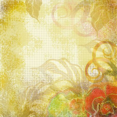 beige and yellow floral design photo