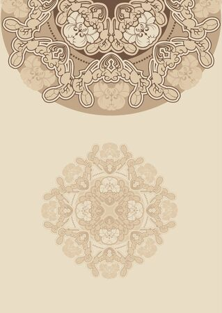floral design pattern iris ,beige background Stock Vector - 13516029
