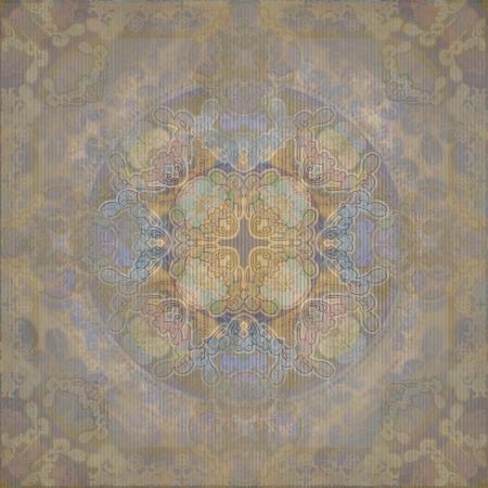 flloral design oriental iris , old wallpaper Stock Photo - 13945299
