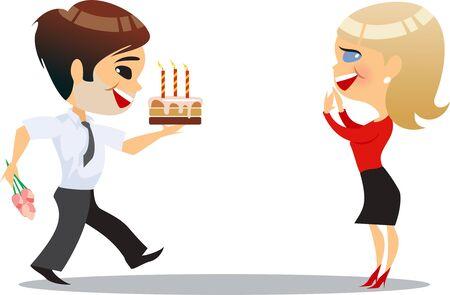 office party: fiesta de la oficina, el hombre y la ni�a