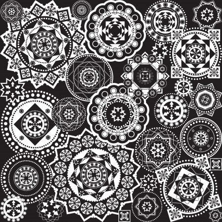 geometric pattern black and white Stock Vector - 14831290