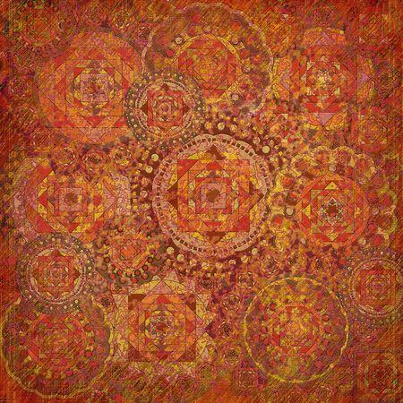 geometric pattern  on dark red background