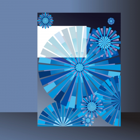 geometric pattern for  brochure, book