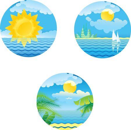 design elements summer sea coast