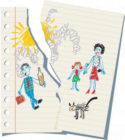 family baby problems , children Illustration