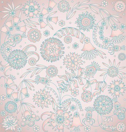 curle: floral design on pink background