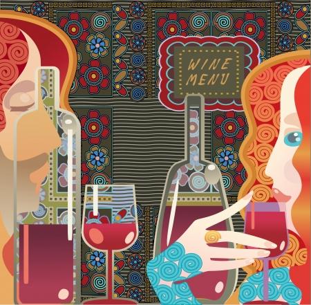 wine list: wine menu , book cover background