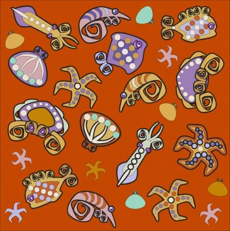 wather: sea background, sea fauna