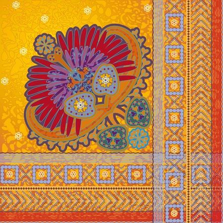 motif indiens: �l�ment de design, mod�le indien