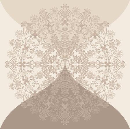 blumen verzierung: floralen Ornament beige, heller Hintergrund Illustration