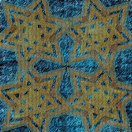stelle blu: blu astratto, stelle, onde, strisce Archivio Fotografico