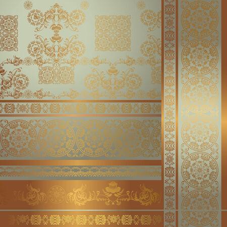 ornament frame: floral ornament, frame Illustration