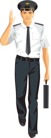 young man pilot, travel service