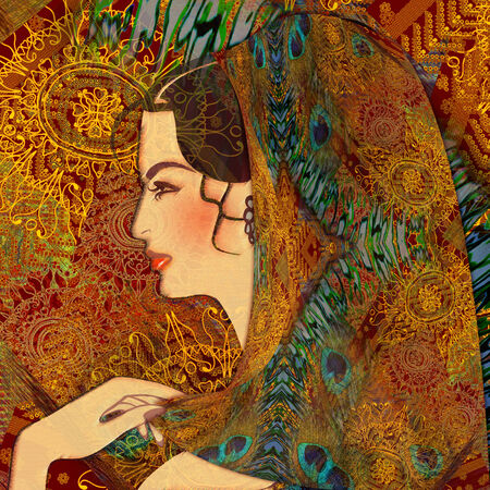 beautiful woman, oriental girl Stock Photo