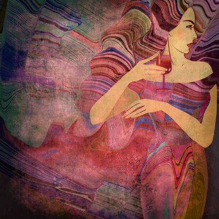 abstract woman background