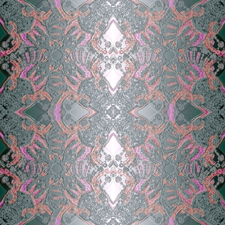 decoration abstract pattern with floral  fragments, pastel colored photo