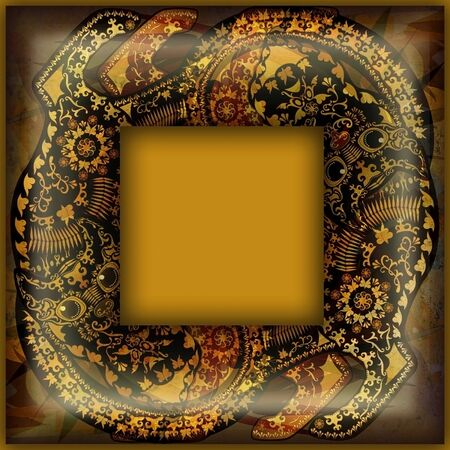 motley: decoration motley animal pattern, exotic frame, african motif Stock Photo