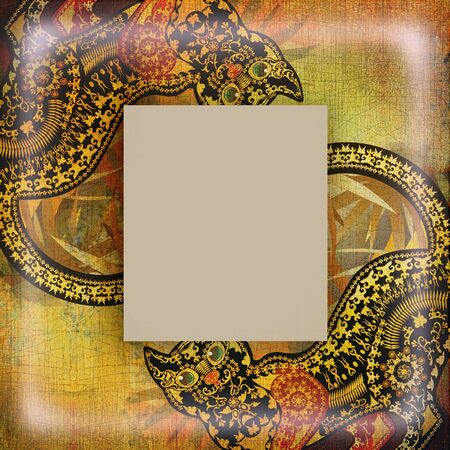 motley: decoration motley animal pattern,exootic frame, african motif Stock Photo