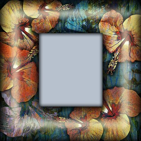 motley: decoration motley floral frame, tropical motif