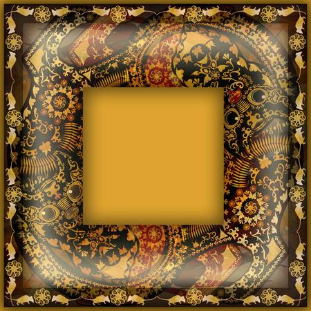 motley: decoration motley animal pattern,exotic frame, tropical motif
