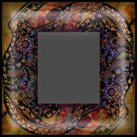 motley: decoration motley animal pattern, exotoc frame, tropical motif
