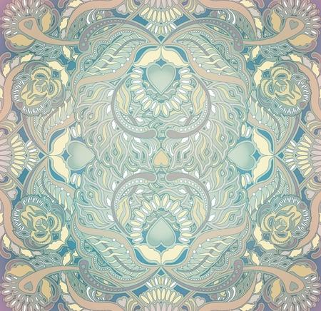orientalische muster: floralen orientalischen Muster Hintergrund pastellfarbenen