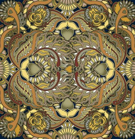orientalische muster: floralen Design orientalischen Muster Hintergrund Lizenzfreie Bilder