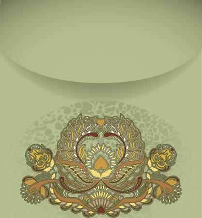 coverbook: floral design element on green background