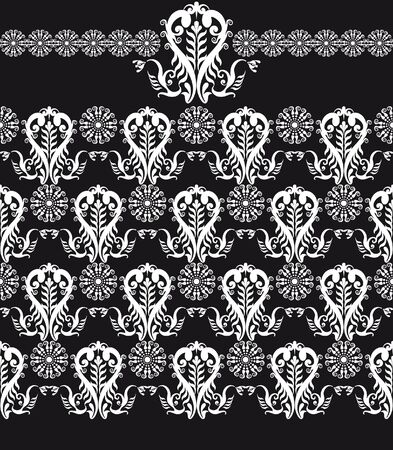 patten: floral seamless patten black and white