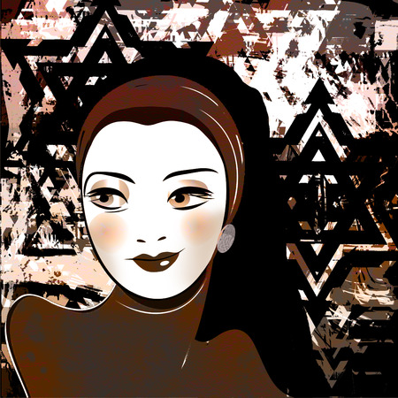 middle eastern clothing: middle eastern beautiful girl,stylized retro picture